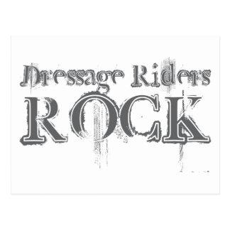 Dressage Riders Rock Post Card