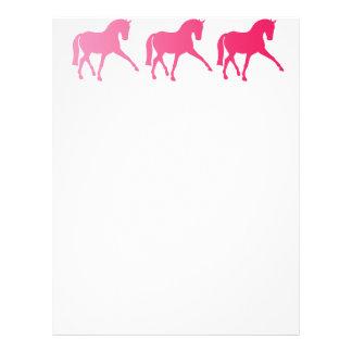 Dressage rosado Sidepass de Ombre Membrete A Diseño