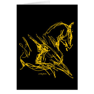 Dressage: Self Carriage - Gold on Black Card