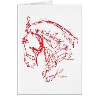 Dressage: Tarjeta noble de la nariz - rojo