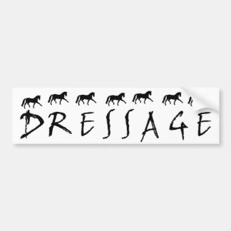 Dressage (text and horses) bumper stickers