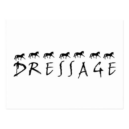 Dressage (text and horses) postcard