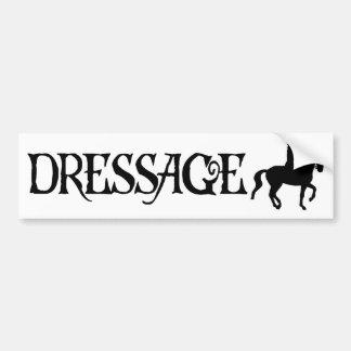 Dressage (texto del estilo del pirata con Piaffe)) Pegatina Para Auto