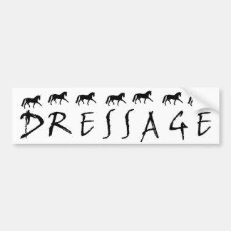 Dressage (texto y caballos) pegatina para auto