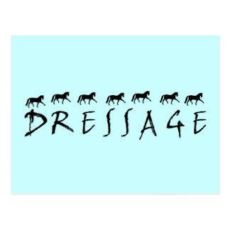 Dressage (texto y caballos) postal
