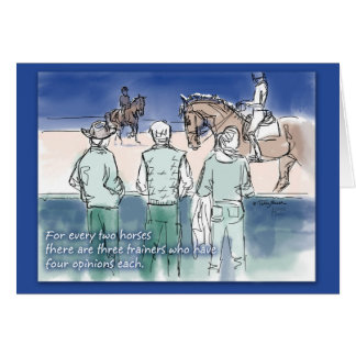 Dressage Three Trainers Card