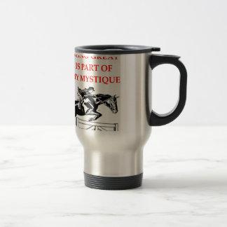 dressage travel mug