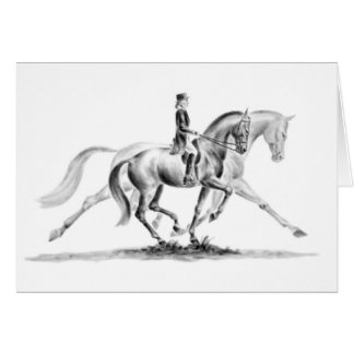 Dressage Trot Drawing by Kelli Swan Card