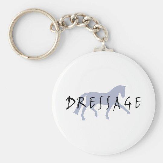 Dressage Trot w/ Text (blue) Keychain