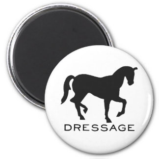 Dressage With Horse In Frame 2 Inch Round Magnet