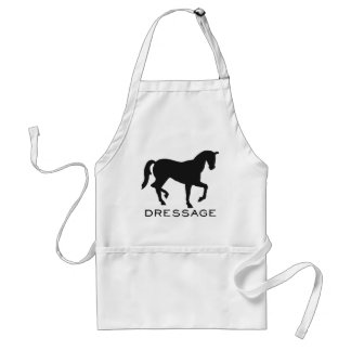 Dressage With Horse In Frame Adult Apron