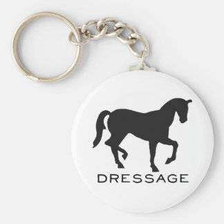 Dressage With Horse In Frame Basic Round Button Keychain