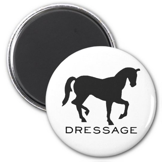 Dressage With Horse In Frame Magnet