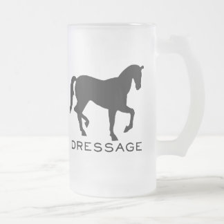 Dressage With Horse In Frame 16 Oz Frosted Glass Beer Mug