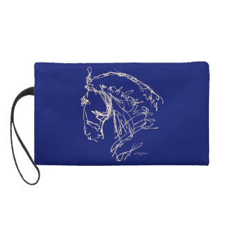 Dressage Wristlet: Navy and Tan
