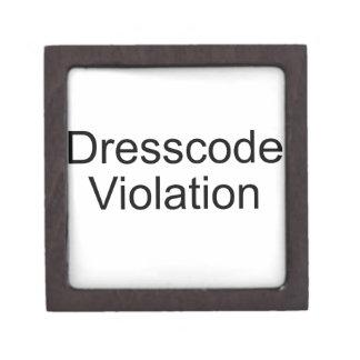 Dresscode Violation Premium Trinket Box