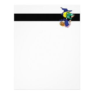 dressed as a witch kid cartoon letterhead