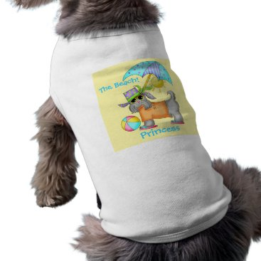 Beach Themed Dressed Beach Dog Personalized Yellow Tee