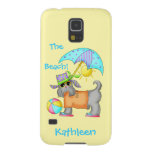 Dressed Beach or Pool Dog Yellow Name Personalized Galaxy S5 Case