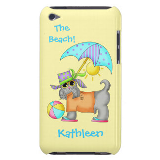 Dressed Beach or Pool Dog Yellow Name Personalized Case-Mate iPod Touch Case