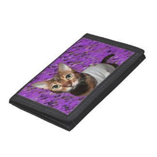 Dressed Bengal Cat Trifold Wallet