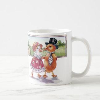 Dressed Ducklings Leaving Church Vintage Coffee Mug