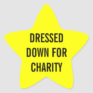 Dressed For Charity Star Star Sticker