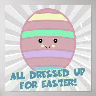 dressed for easter egg print
