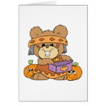 dressed for halloween indian costume teddy bear de greeting card