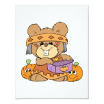 dressed for halloween indian costume teddy bear de personalized invitation