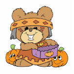 dressed for halloween indian costume teddy bear de acrylic cut out