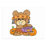 dressed for halloween indian costume teddy bear de postcards