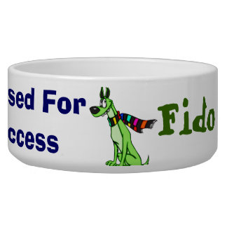 Dressed For Success Customized Dog Bowls