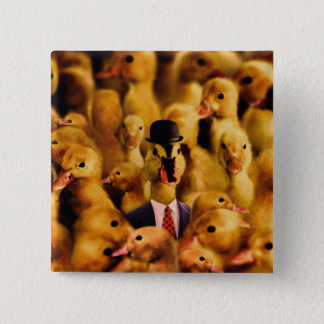 Dressed For Success Duck Pinback Button