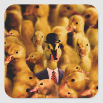 Dressed For Success Duck Square Sticker