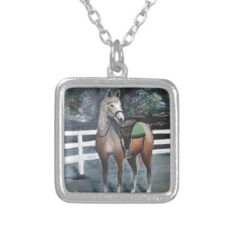 Dressed Horse Silver Plated Necklace