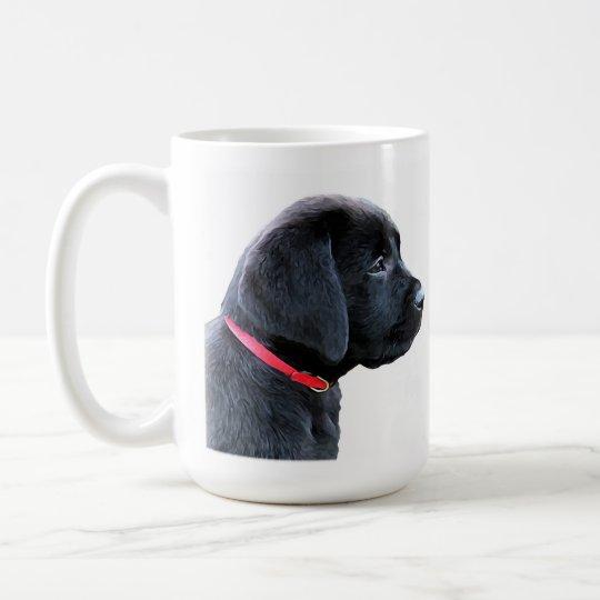 Dressed In Red Black Lab Coffee Mug