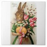 Dressed Lady Easter Bunny Tile