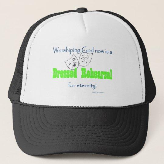 dressed rehearsal trucker hat