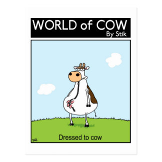 Dressed to Cow Postcard