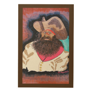 """Dressed to kill """"Blackbeard"""" Wood Wall Art"""