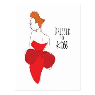 Dressed To Kill Post Card