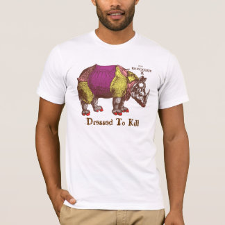 Dressed to Kill Rhino T-Shirt