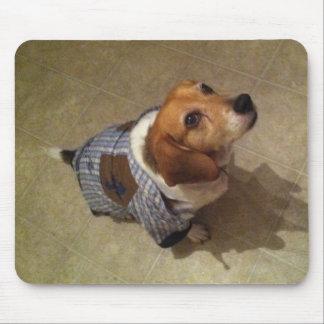 Dressed up Beagle Mouse Pad