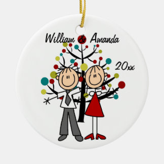 Dressed Up Couple Dated and Personalized Ornament