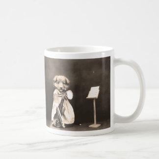 Dressed Up Puppy with Violin Coffee Mug