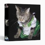 Dressed-up Tabby Cat Binder