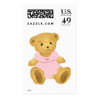 Dressed Up Teddy bear Stamp