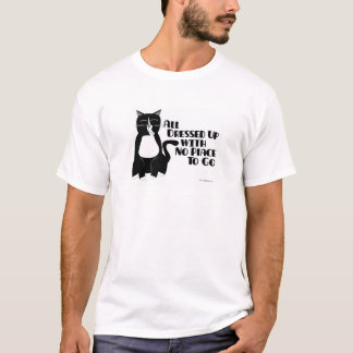 Dressed Up Tuxedo Kitty T-Shirt