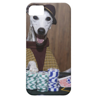 Dressed up Whippet dog at gambling table iPhone SE/5/5s Case